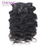 Clip umana brasiliana del corpo di Yvonne del Virgin all'ingrosso dell'onda nelle estensioni dei capelli