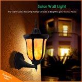 Pared solar el parpadeo de luces LED de llamas de la luz de la noche de baile al aire libre Nuevo Diseño de linterna impermeable para jardín jardín patio de la puerta