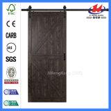 Portello di legno Pocket nero moderno