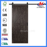 Puerta de madera de bolsillo negro moderno