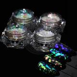 Хлопья яркия блеска заполированности геля ногтя стеклянного хамелеона галактики скачками
