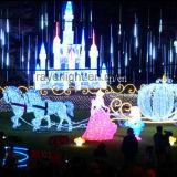 Lichten van de Windmolen van Kerstmis van de Decoratie van de LEIDENE RGB Verlichting van het Koord