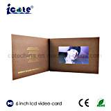 Свободно образец подгонял поздравительную открытку LCD 6 дюймов видео-