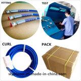 Tubo flessibile ad alta pressione tubo flessibile Braided 12.7X22mm della resina dei tre di strato fili di acciaio