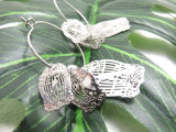 Women 銅の真鍮の鳥かごの形のイヤリング