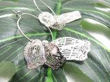 銅の真鍮の鳥かごの形の女性のイヤリング