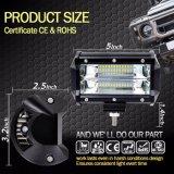 Cer RoHS anerkannte wasserdichte Tri-Reihe LED, die 72W LED hellen Stab für ATV Gabelstapler fährt