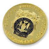 moneda suave plateada oro del recuerdo del esmalte de la insignia 3D para el regalo de la promoción
