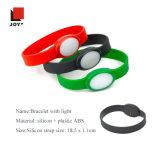 Bracelete plástico de 2017 ABS do silicone colorido com bracelete leve