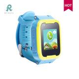 Téléphone à la mode GPS d'enfants suivant la montre intelligente pour des gosses