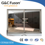Acristalamiento doble salto térmico de aluminio puerta deslizante