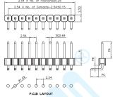 pH2.0mmのめっきのAuが付いている直角の単一の列H2.5mm Pinヘッダのコネクター10ピン