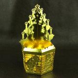 el metal 3D de oro Handcraft la decoración del árbol de navidad