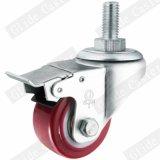 (빨간) 중간 가벼운 의무 PU 조정 피마자 (두 배 볼베어링) G2202