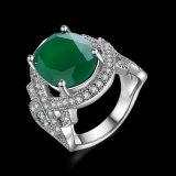 Ring van de Partij van de Vrouwen van de Diamant van de Juwelen van de manier de Witgoud Geplateerde