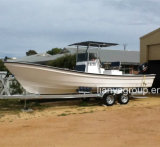 Bateaux de Panga de bateaux de pêche de fibre de verre de Liya 7.6m à vendre Fiji