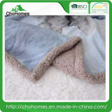 Супер мягкое одеяло ватки Berber ватки Sherpa (волк)