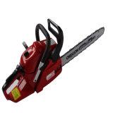 La chaîne en bois d'essence de machine de découpage d'outils de jardin a vu