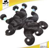 Естественные бразильские картины волос, бразильские волосы 3 пачки с закрытием