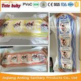 자주색 매끄러운 Backsheet 공장 가격은 상표 아프리카에 있는 처분할 수 있는 아기 기저귀를 소유한다