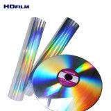 Holograma de Pet prata transparente sem filme de Laminação Rainbow Film