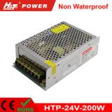 éclairage à sortie unique du bloc d'alimentation DEL de commutation de 200W 24V 8A