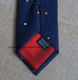 Poly tissés dans la Marine Dobby cravate pour