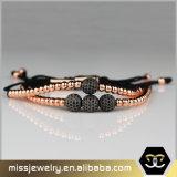 Mens-kundenspezifisches EdelstahlAnilArjandas Macrame-Raupe-Armband Msbb001