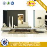 Sofá de casa canto moderno mobiliário de sala de couro (HX-SN308)