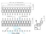 Bonne qualité pH: 2.0mm Double logement embase à broches du connecteur à angle droit