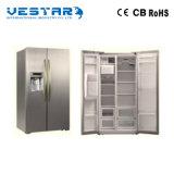 Puerta doble del clave bloqueado del refrigerador de la puerta principal y de la puerta de atrás