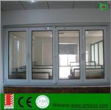 Finestra Bi-Fold di profilo di alluminio con vetro Tempered fatto in Cina