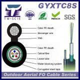 2-12cores de LuchtKabel van de Optische Vezel van de Boodschapper van het Staal (GYXTC8S)