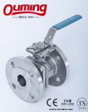Vávula de bola del borde del acero de carbón 2PC con el alto postizo de montaje (CE, API6D)