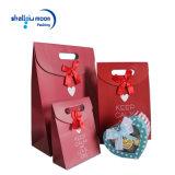 Sac à provisions de papier rouge de sacs de félicitations de Joyeux Noël