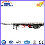 Remorque plate de conteneur de deux essieux pour le camion