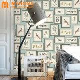 Decoração moderna de PVC de parede 3D de couro