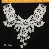 lacet pendant floral d'or d'encolure de 32*32cm, collier Hme906 de lacet de cru