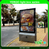 가벼운 상자를 광고하는 옥외 두 배 편들어진 LED Lightbox Mupi