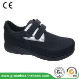 糖尿病性のフィートのために友好的なLace-upデザインの本革の広い靴