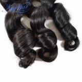 工場はインドの緩い巻き毛のバージンの人間の毛髪をカスタマイズする