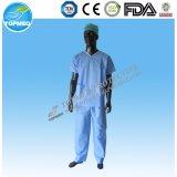 Vestido paciente não tecido com luva curta