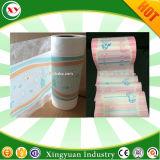 Imprimir la película PE laminada de Nonwoven pañal Pañales de la hoja trasera de la fabricación de materias primas
