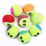 De Bal van het Stuk speelgoed van Doggie van het Af:drukken van de poot, de Bal van het Tennis van de Hond van de Opleiding van het Huisdier