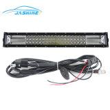 Nova Barra de LED branco com o LED âmbar Estrobo 136W 6000K 8000lm IP 67 4*4 LED Drving Barra de luz LED