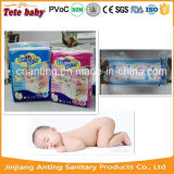 Preço barato Smooth Colorful PE Film & Super Absorbent Disposable Baby Diaper