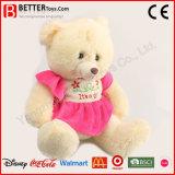 Плюшевый медвежонок заполненного животного игрушки плюша супер мягкий в платье для ребёнка