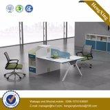 L classique bureau blanc de mélamine de meubles de bureau de forme (UL-NM033)