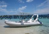 Barco inflável do reforço de Hypalon do barco inflável rígido da casca da fibra de vidro de Liya 20feet