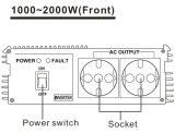 Het Merk gelijkstroom van Paco aan de Omschakelaar 12V 220V 1200W van de Wisselstroom met Ce